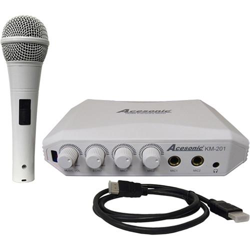 Acesonic USA KM-201 HDMI Karaoke Mixer with Yamaha Reverb KM-201