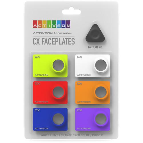 ACTIVEON Color Face Plate Kit for CX Action Camera CA08FBS