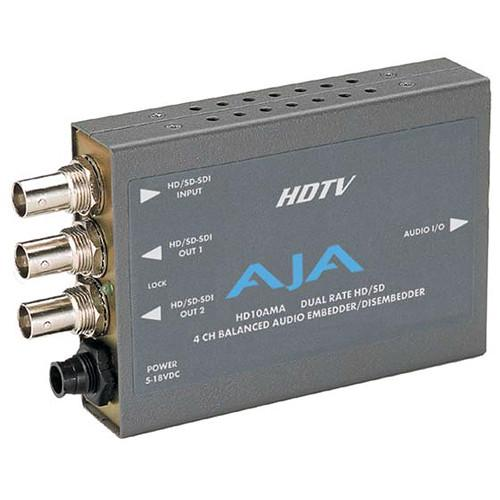 AJA HD/SD-SDI 4-Channel Analog Audio Embedder / HD10AMA
