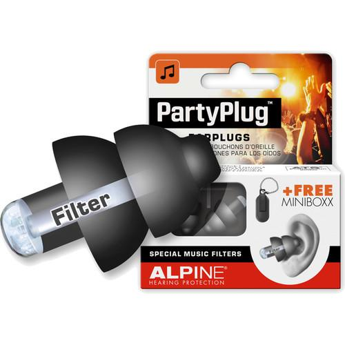 Alpine Hearing Protection PartyPlug Music AMS-PARTYPLUG-BLK