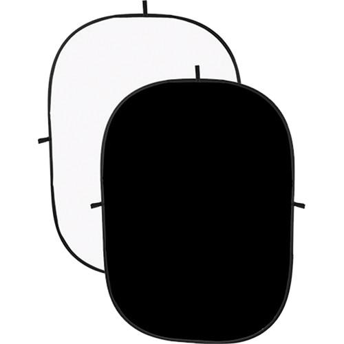 Angler Collapsible Background - 5 x 7' (Black/White) 2254-BW-57