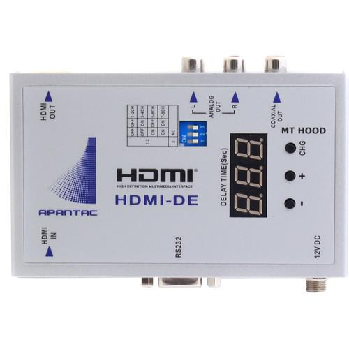Apantac HDMI Audio De-Embedder with Audio Delay HDMI-DE