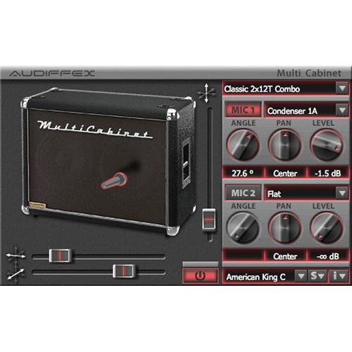 Audiffex MultiCabinet - Guitar Cabinet Models Plug-In 10-12089