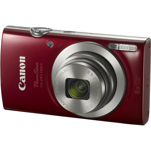 Canon PowerShot ELPH 180 Digital Camera (Red) 1096C001