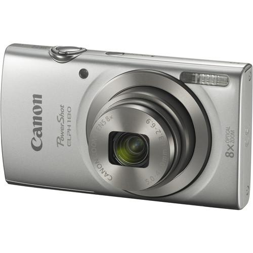 Canon PowerShot ELPH 180 Digital Camera (Silver) 1093C001