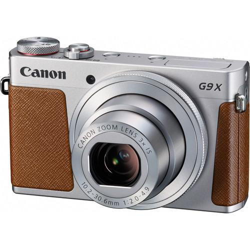 Canon PowerShot G9 X Digital Camera Basic Kit (Silver)