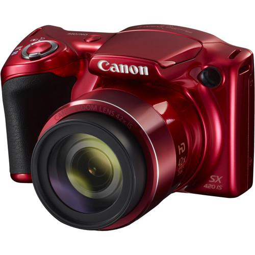 Canon PowerShot SX420 IS Digital Camera (Red) 1069C001