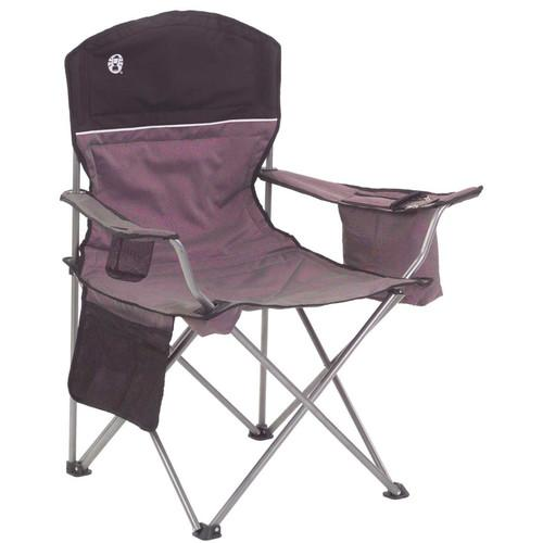 Coleman Oversized Quad Chair with Cooler (Black/Gray) 2000020256