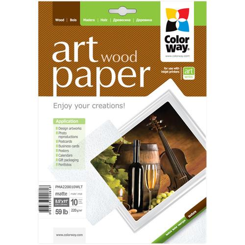 ColorWay ART Matte Wood Textured Photo Paper PMA220010WLT