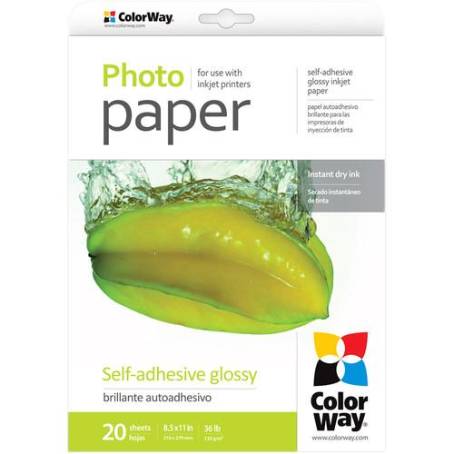 ColorWay Glossy Self-Adhesive Photo Paper PGS1358020LT