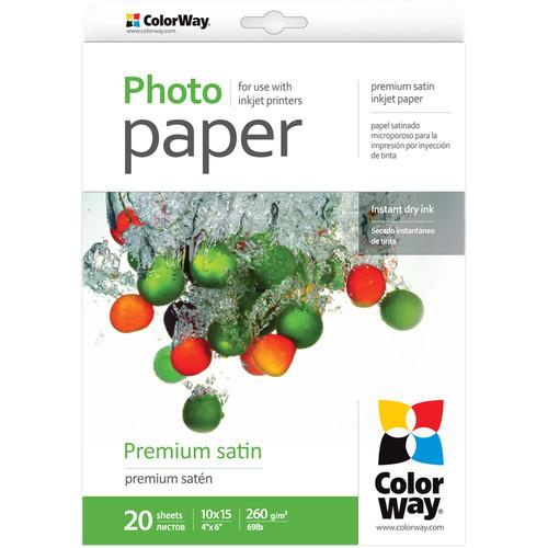 ColorWay  Premium Satin Photo Paper PS2600204R