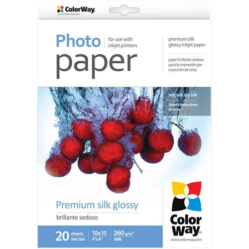 ColorWay Premium Silk Glossy Photo Paper PSI2600204R