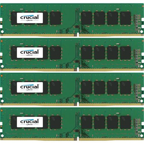 Crucial 16GB (2 x 8GB) UDIMM DDR4-2400 PC4-19200 CT4K4G4DFS824A