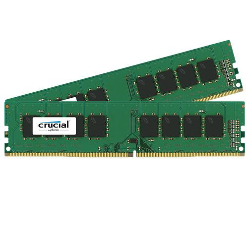 Crucial 32GB (2 x 16GB) UDIMM DDR4-2400 PC4-19200 CT4K8G4DFD824A
