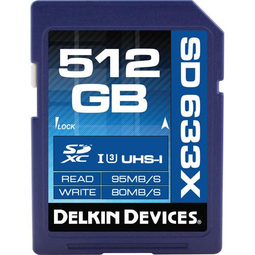 Delkin Devices 512GB Elite UHS-I SDXC Memory Card DDSD633512GB