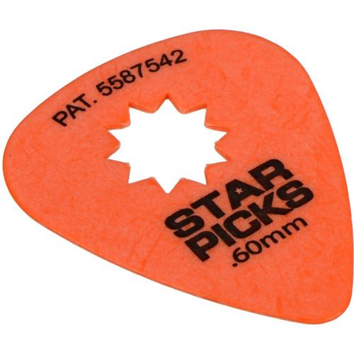 EVERLY Star Pick 12-Pack of Guitar Picks (.60mm, Orange) 30022