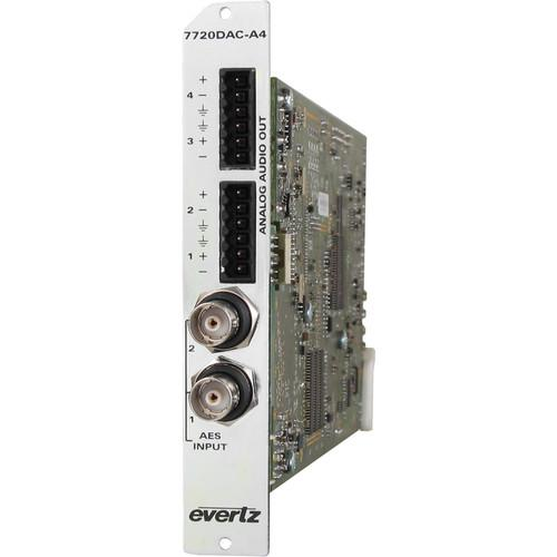Evertz Microsystems Dual AES to Quad Analog Audio 7720DAC-A4 3RU