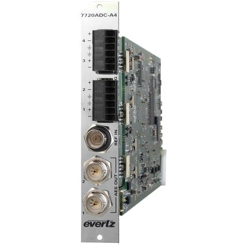 Evertz Microsystems Quad Analog Audio to Dual AES 7720ADC-A4 3RU