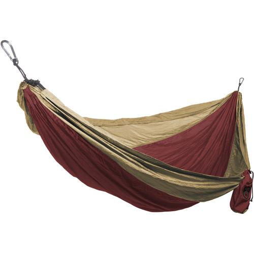 Grand Trunk Single Parachute Nylon Hammock (Crimson/Khaki) SH-08