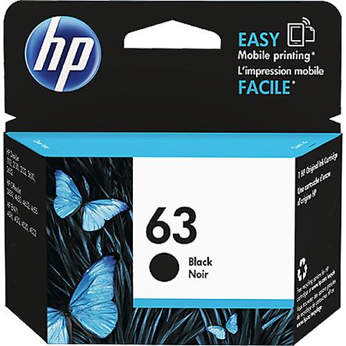 HP  63 Black Ink Cartridge F6U62AN#140