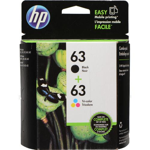 HP 63 Tri-Color/Black Ink Cartridge Pack L0R46AN#140