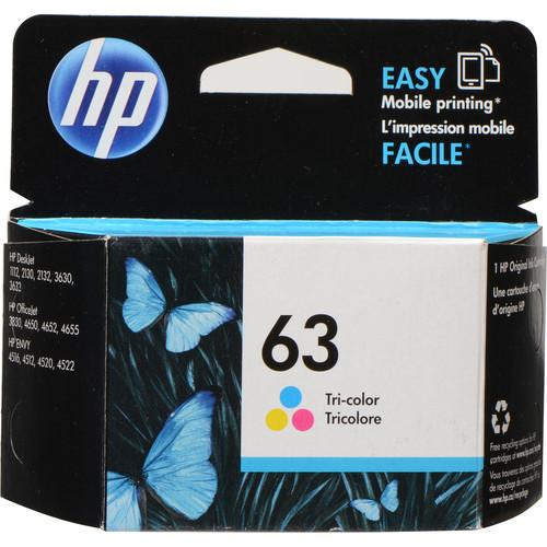 HP  63 Tri-Color Ink Cartridge F6U61AN#140