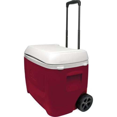 Igloo Island Breeze 60 Quart Roller Red Wheeled Cooler 45611