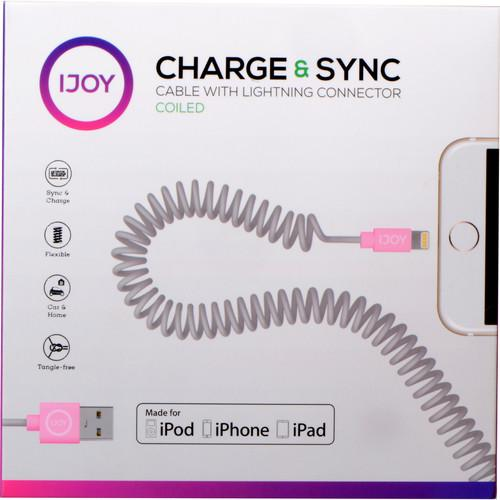 iJOY Coiled Lightning to USB 2.0 Cable (3', Gray) IP-COILM-GRY