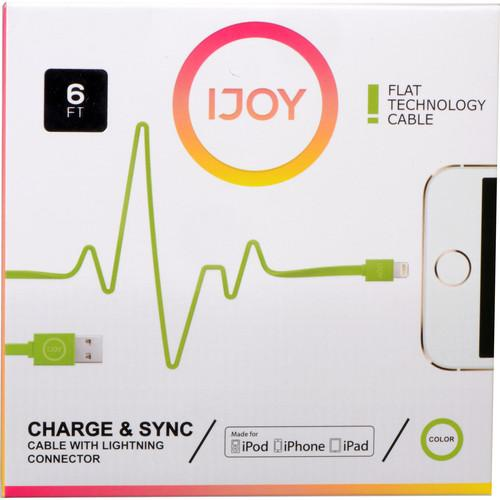 iJOY Lightning to USB Flat Line Cable (6', Green) IP-6FTM-GRN