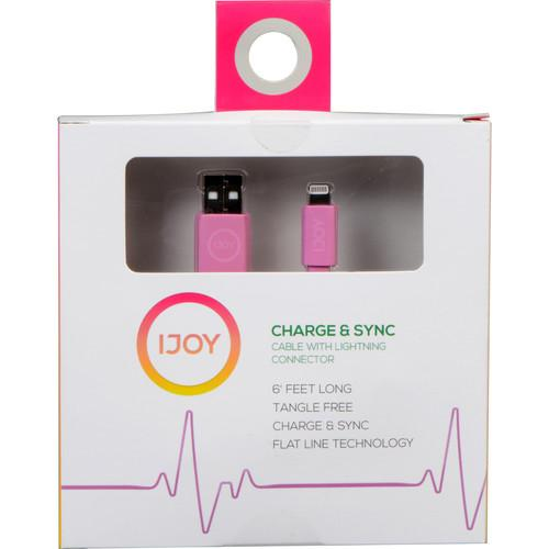 iJOY Lightning to USB Flat Line Cable (6', Pink) IP-6FTM-PNK