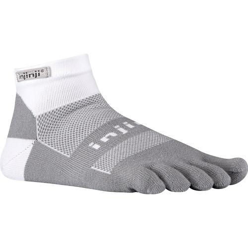 Injinji RUN 2.0 Large Midweight No-Show Toesocks 203110-GWH-LG