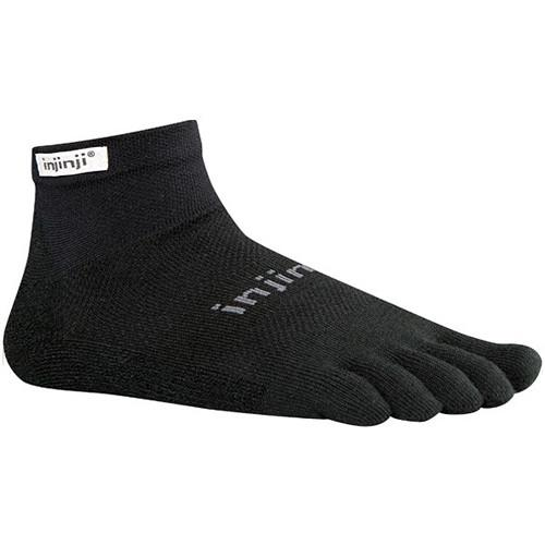 Injinji Run 2.0 Medium Original Weight Mini-Crew 202130-BLK-MD