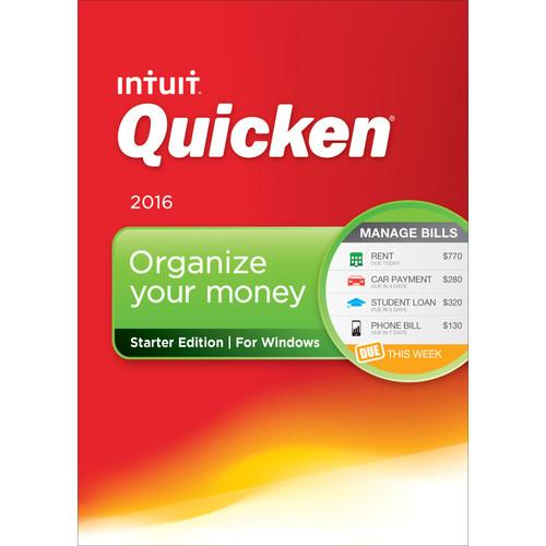 Intuit Quicken Starter Edition 2016 (Download) 426790
