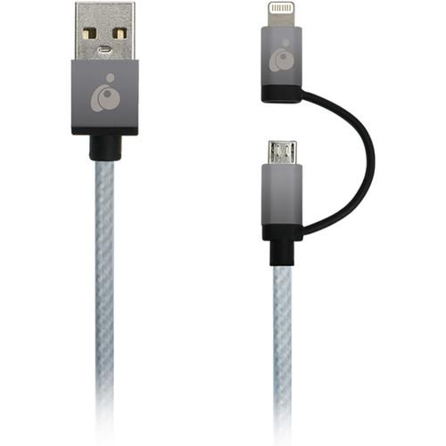 IOGEAR DuoLinq 2-in-1 Charge & Sync Cable GUML01-SG