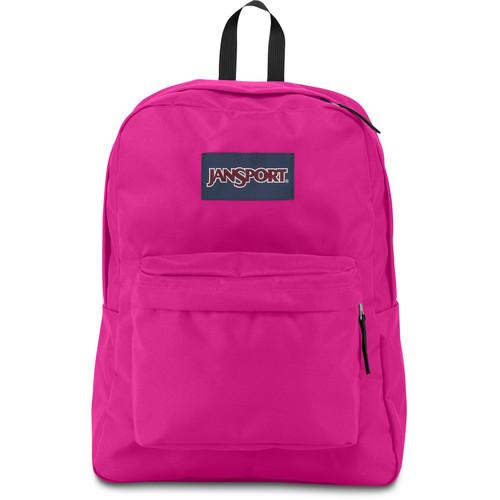 JanSport SuperBreak 25L Backpack (Cyber Pink) JS00T50101B