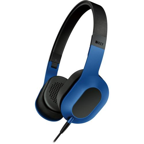 KEF  M400 Hi-Fi On-Ear Headphones (Blue) M400RB