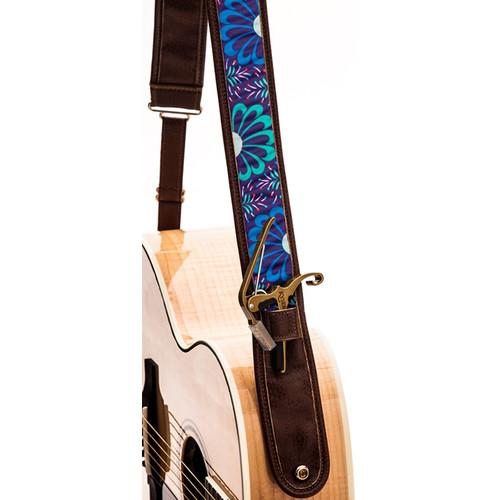 KYSER Kyser KS2A Guitar Strap (Cool Bloom, Brown) KS2A