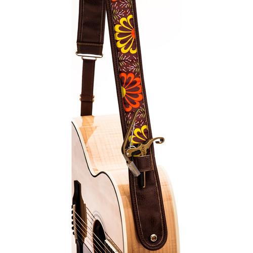 KYSER Kyser KS2B Guitar Strap (Warm Bloom, Brown) KS2B