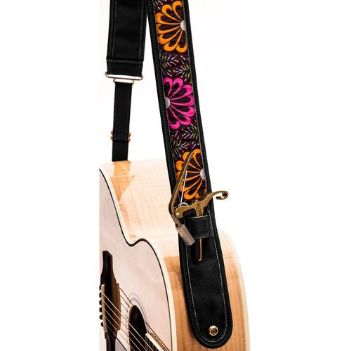 KYSER Kyser KS2C Guitar Strap (Neon Bloom, Black) KS2C