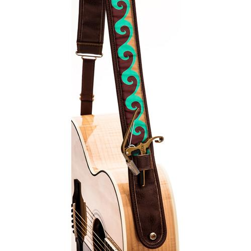 KYSER Kyser KS3A Guitar Strap (Lake Wave, Brown) KS3A