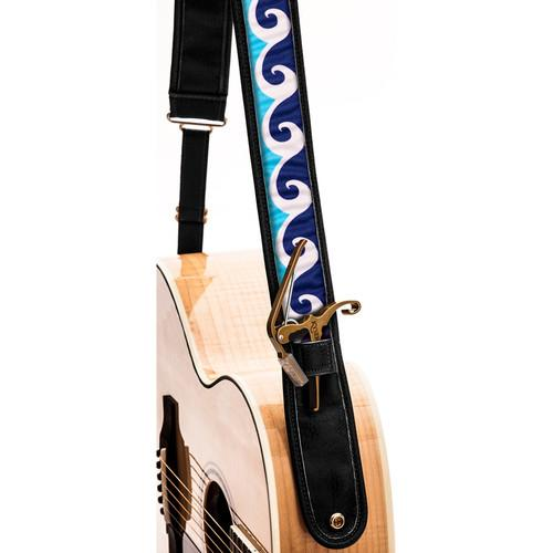 KYSER Kyser KS3B Guitar Strap (Ocean Wave, Black) KS3B
