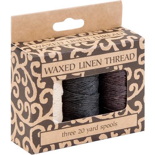 Lineco 20 yd Spool of Waxed Linen Thread for Hand-Sewn BBHM891