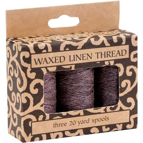 Lineco Waxed Linen Thread Roll (3-Pack, 20 yd, Brown) BBHM210