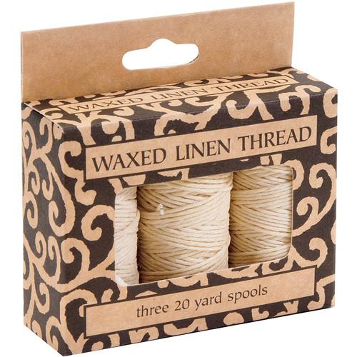 Lineco Waxed Linen Thread Roll (3-Pack, 20 yd, Natural) BBHM208