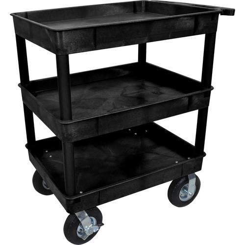 Luxor Large Tub Cart with Three Shelves and Four TC111P8-B