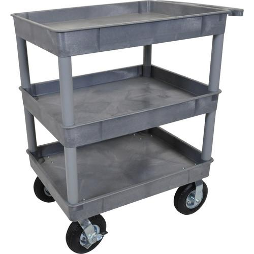 Luxor Large Tub Cart with Three Shelves and Four TC111P8-G
