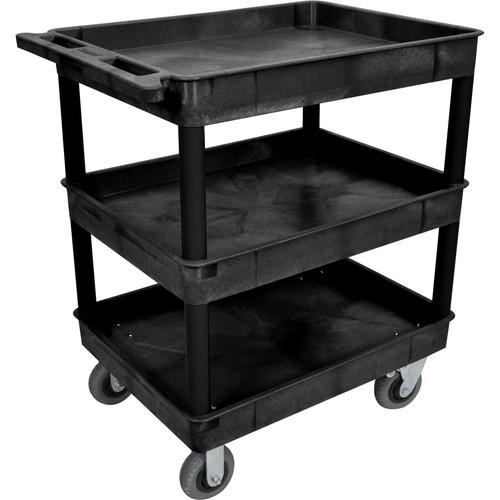 Luxor Large Tub Cart with Three Shelves and Four TC111SP6-B