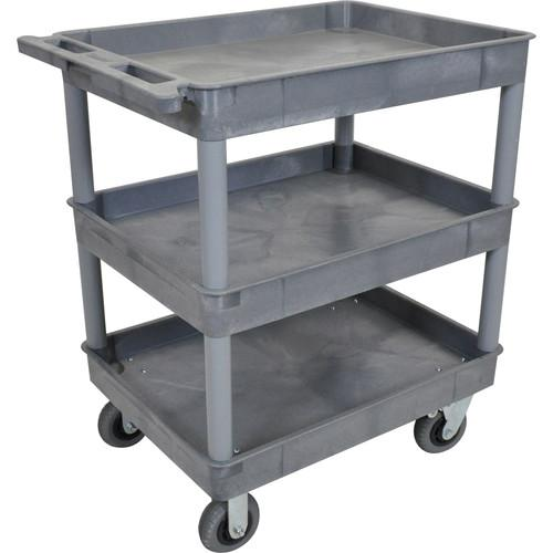 Luxor Large Tub Cart with Three Shelves and Four TC111SP6-G