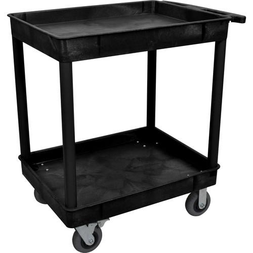 Luxor Large Tub Cart with Two Shelves and Four 6