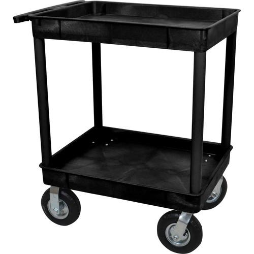 Luxor Large Tub Cart with Two Tub Shelves and Four TC11P8-B